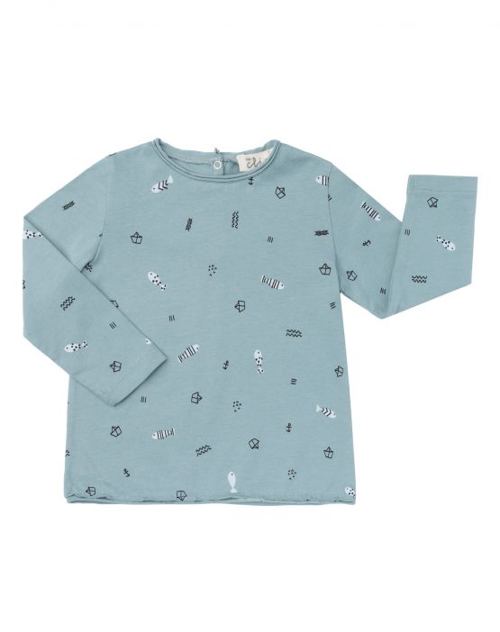 Long sleeve T-shirt<br>GREEN BOATS