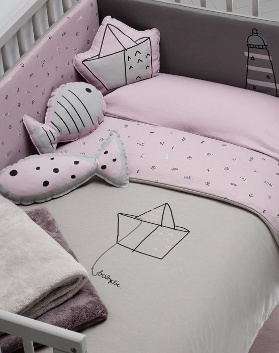 Duvet Cover<br>PINK BOATS