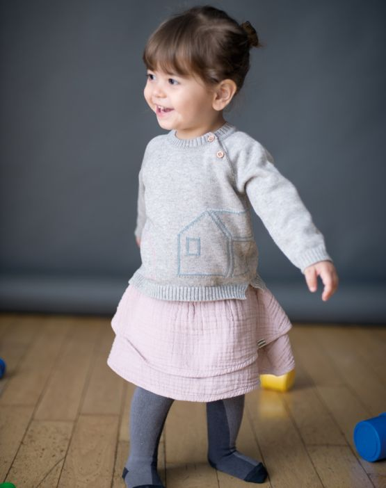 Knitted sweater HOME GRIS